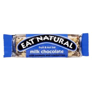Eat Natural - Mælkechokolade m. peanuts og tranebær