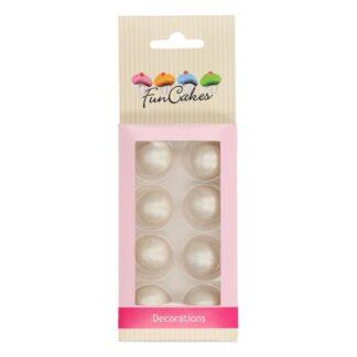 Funcakes - chokoladekugler silver pearl