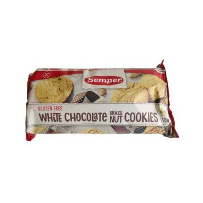 Semper Cookies White chocolate & brazil nut